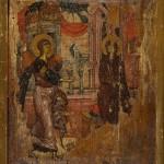Благовести, двострана икона, средина XIV века, Љубижда, НМБ