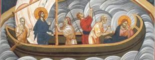 Бура на мору, Грачаница, 1321, копија фреске (1)