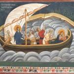 Бура на мору, Грачаница, 1321, копија фреске