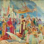 Долазак цара Душана у Дубровник - Маркo Мурат (1864–1944)