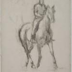 Едгар Дега, Јахач, угљен, око 1885-1890 (1)