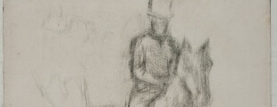Едгар Дега, Јахач, угљен, око 1885-1890