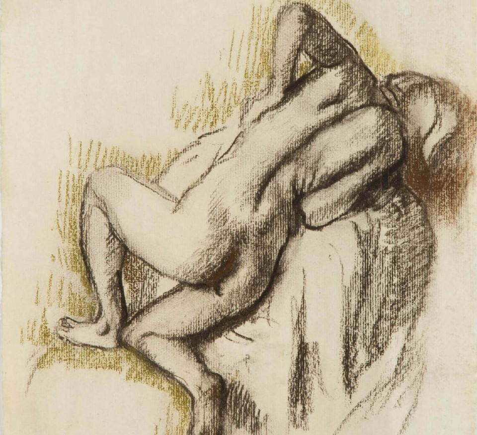 Едгар Дега, Женски акт, угљен и пастел, 1896 Феатуред (1)