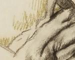Едгар Дега, Женски акт, угљен и пастел, 1896
