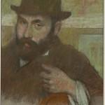 Едгар Дега, Човек у меком шеширу, пастел, око 1880 (1)
