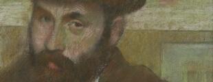 Едгар Дега, Човек у меком шеширу, пастел, око 1880