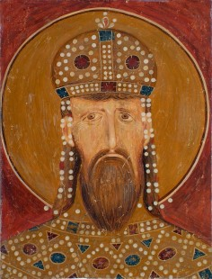 Краљ Милутин, детаљ, Богородица Љевишка