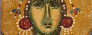 Света Варвара, детаљ живописа цркве Богородица Љевишка у Призрену.
