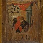 Сусрет Јоакима и Ане, двострана икона, средина XIV века, Љубижда, НМБ