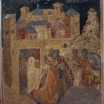 Сусрет Светог Саве и Симеона у Ватопеду, копија фреске из трпезарије Манастира Хиландар