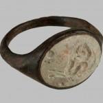 прстен са гемом, бронза, камен, инв. бр