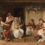 Паја Јовановић, Кићење невесте, 1886, уље на платну, инв. бр. НМ 115, дифузно светло