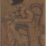 Винсент Ван Гог, Писац за столом, 1882-1883.