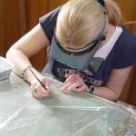 Ушивање посекотине на платненом носиоцу