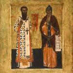 Лонгин (?), Св. Сава и Симеон, друга половина 16. века, темпера на двету