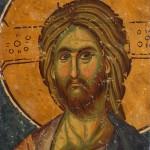 Христ, јужна страна првог северног ступца, детаљ,Богородица Љевишка