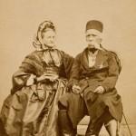 Вук и Ана Караџић (по портрету Димитрија Тирола), фотографија литографије Јозефа Крихубера