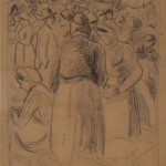 Камиј Писаро, Пијаца у Понтоазу, око 1880.