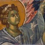 Анђео из калоте куполе, Богородица Љевишка