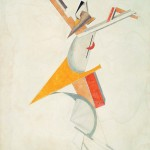 """Ел Лисицки, Костим за оперу """"Победа над Сунцем"""", 1921."""