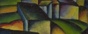 Михаило С. Петров, Преде, 1921, уље на картону, 23,5 х 30 cm