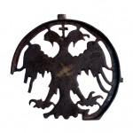 Део хороса са двоглавим орлом, Марков манастир, око 1370, бронза
