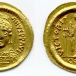 Јустинијан I (527-565), AU солид