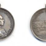 "Медаља за пешачку регименту ""Ернст Гидеон Лаудон"" поводом стоте годишњице од опсаде Београда 1889, Сребро"