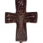 Крст реликвијар, Петрова црква код Н. Пазара  12. век Бронза, ливење, урезивање