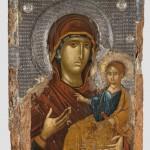 Двојна икона: Богородица Одигитрија (са оковом), трећа четвртина 14. века