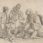 Урош Предић,  Деца око гуслара (1882)