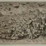 """Јохан Саделер, Мартин Де Вос , Стварање риба и птица, из серије """"Стварање света"""", 1580-1590."""