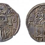 Цар Душан (1331-1355), цар и царица, AR динар