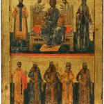 Икона Деизис са св. Савом и св. Симеоном Немаwом и српским светитељима, 17. век