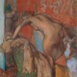 Едгар Дега, После купања, 1887-90
