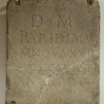 Надгробна плоча, Костолац (Viminacium) 2-3. век