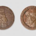 Иван Мештровић, Доситеј Обрадовић, медаља, бронза, 1911, ликовна збирка