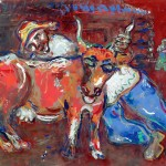 Марк Шагал, Сељак и крава, 1926-27