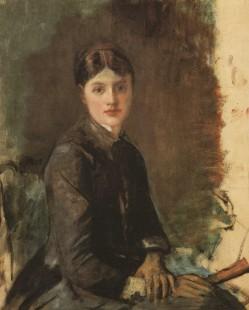 Anri de Tuluz-Lotrek, Portret mlade žene, oko 1883