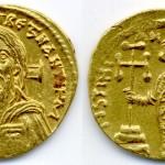Јустинијан II (669-711 тј. прва влада 685-695, друга влада 705-711), AU солид