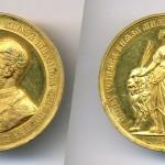 Споменица педесетогодишњице Другог српског устанка, 1865, W. Pittner, Злато