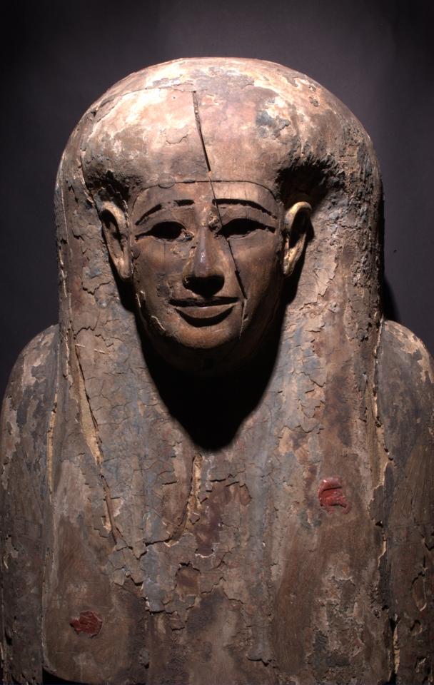 Београдска мумија, детаљ ковчега са печатима, Народни музеј у Београду
