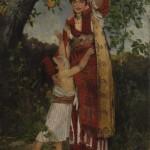 Ђорђе Крстић, Под јабуком, 1883. уље на платну, 138,5 х 85 cm