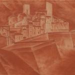 Душан Јанковић, Антиб, градић окружен зидинама, 1924