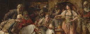 Paja Jovanović, Borba petlova, detalj, Zbirka srpskog slikarstva 18. i 19. veka