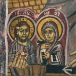 Ikonica-diptih Hrista i Bogorodice u ruci sv. Stefana Novog, Sopocani, proskomidija