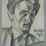 Јован Бијелић, Портрет Бранка Ве Пољанског, 1921-22