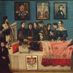 Јован Исајловић млађи, Кнез Милан Обреновић на одру, 1839. уље на платну, 70,5 х 89 cm