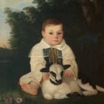Јован Поповић, Дете са јагњетом, 1846. уље на платну, 87 х 70 cm