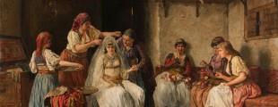 Кићење невесте, Паја Јовановић, 1885/1886, Збирка српског сликарства 18. и 19. века, фото: Вељко Илић